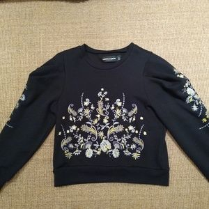 Embroidered sweater gabrielle union ny and co